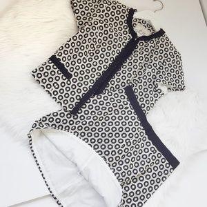 Milly | Short Sleeve Eyelet Suit Set